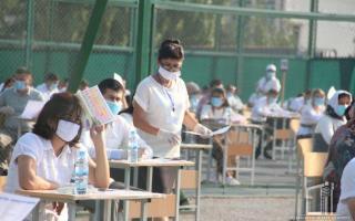 Андижондаги спорт майдонларида тест синовлари бошланди (фото)