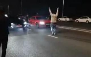 Тошкент вилоятида йигитлар тунда ноқонуний пойга уюштирди — видео