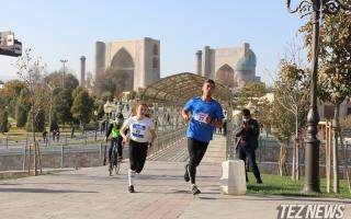 Фоторепортаж: Самарқандда «Samarkand Half Marathon» хайрия марафони ўтказилди