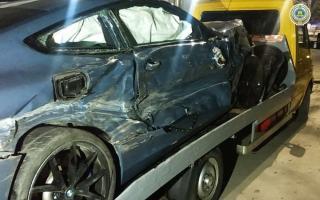 Юнусободда «BMW» ҳайдовчиси бошқарувни йўқотиши оқибатида 8 та автомобиль шикастланди (фото)