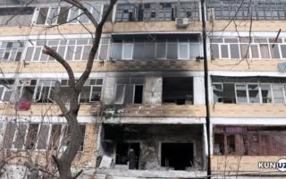 Андижондаги «дом»да газ портлаши оқибатида 3 киши шифохонага ётқизилди — видео