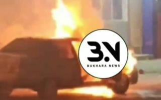 Видео: Бухоро шаҳрида «Nexia-2» ёниб кетди
