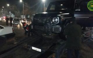 Тошкентда «Mercedes Gelendvagen» ва «Nexia» иштирокида «авария» бўлди — фото