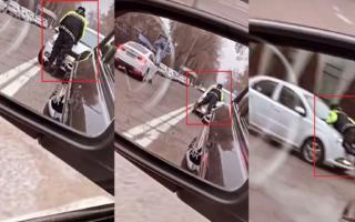 Тошкентда «Nexia» ҳайдовчиси ЙПХ ходимини машина капотида судраб кетди — видео