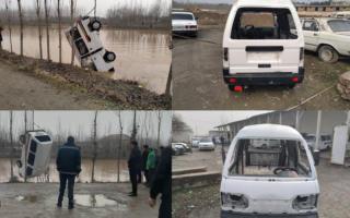Олтинкўлда «Damas» автомобили Фарғона каналига тушиб кетди