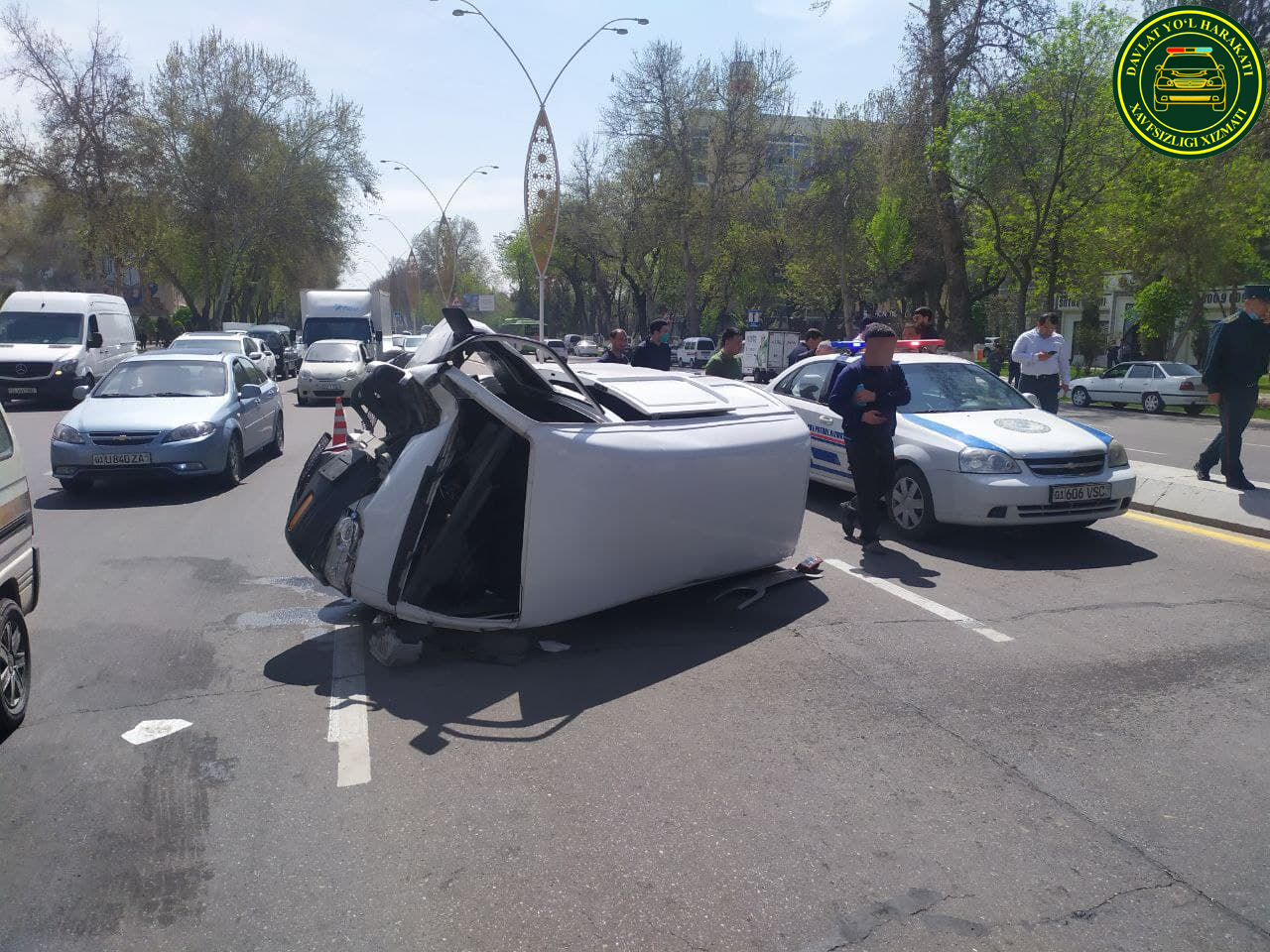 Тошкентда 3 та автомобиль иштирокида ЙТҲ содир бўлди